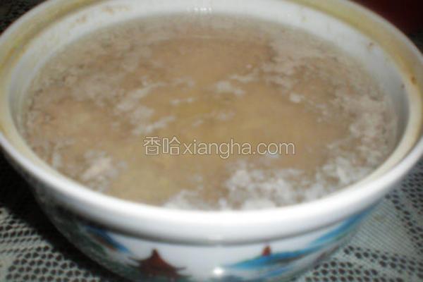 微波肉饼汤