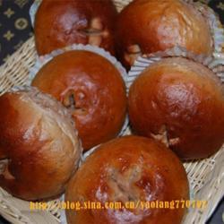红豆血糯巧克力面包的做法[图]
