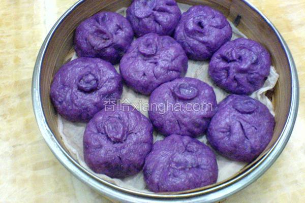 紫薯豆沙包