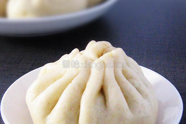 小白菜香菇素包