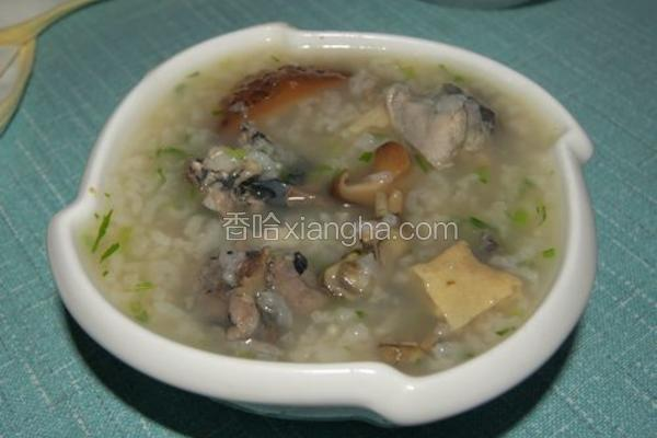 乌骨鸡香菇粥