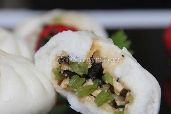 味噌海米芹菜包