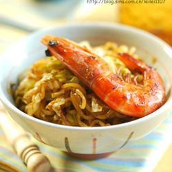 泰式黑胡椒鲜虾面的做法[图]