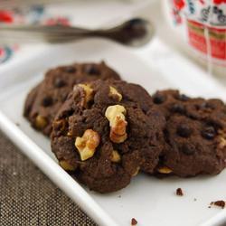 核桃巧克力奇普饼干的做法[图]