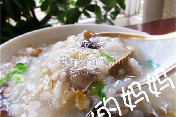 鸡肝木耳燕麦粥