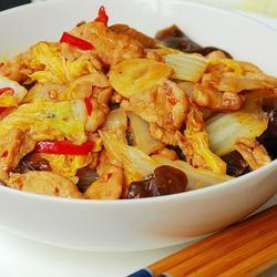 白菜猪肉炒木耳的做法[图]