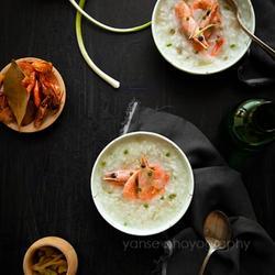 北极虾咸粥的做法[图]