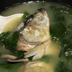 鱼头枸杞叶汤的做法[图]