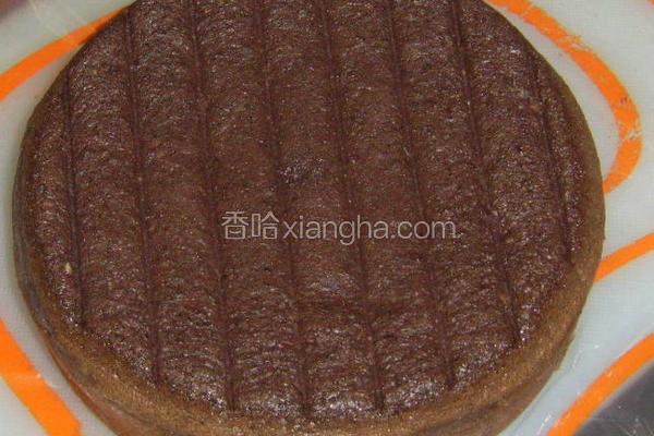巧克力白芝麻蛋糕