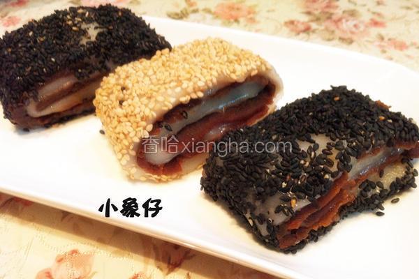 芝麻红豆糯米卷