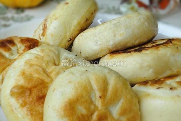 香菇油菜馅饼