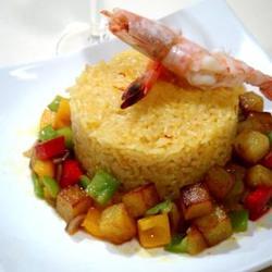 红花焖饭蔬菜海鲜的做法[图]
