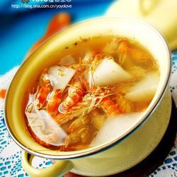 桂花萝卜虾汤的做法[图]