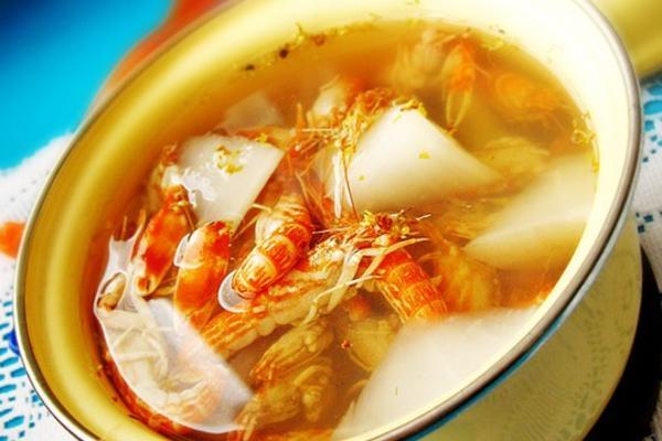 桂花萝卜虾汤