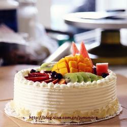 奶油水果装饰蛋糕的做法[图]