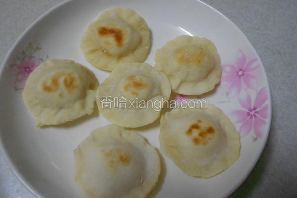 荷叶地瓜饼