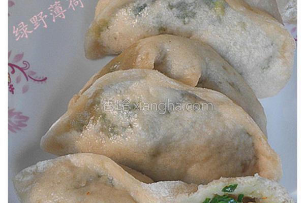 虾仁韭菜蒸饺