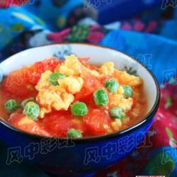 西红柿炒鸡蛋豌豆的做法[图]
