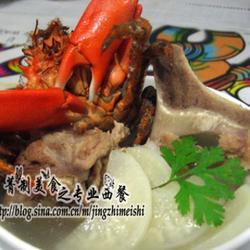 萝卜猪骨螃蟹汤的做法[图]