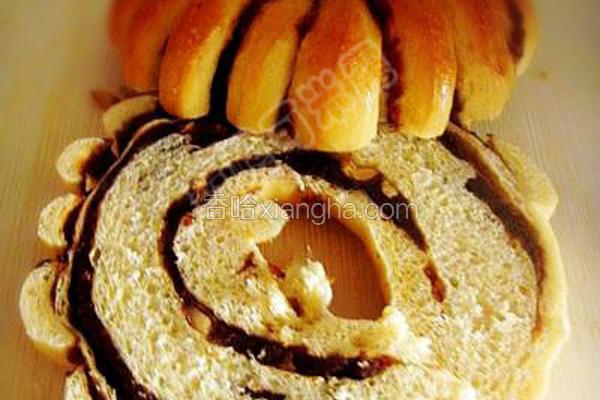 豆沙花生面包圈