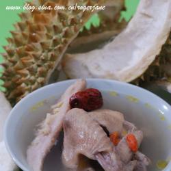 榴莲皮煲鸡汤的做法[图]