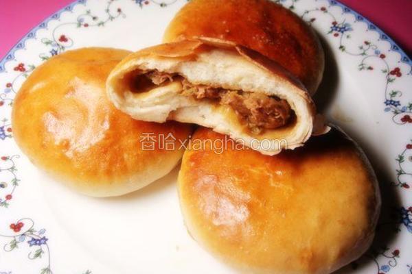 香酥松软肉烧饼
