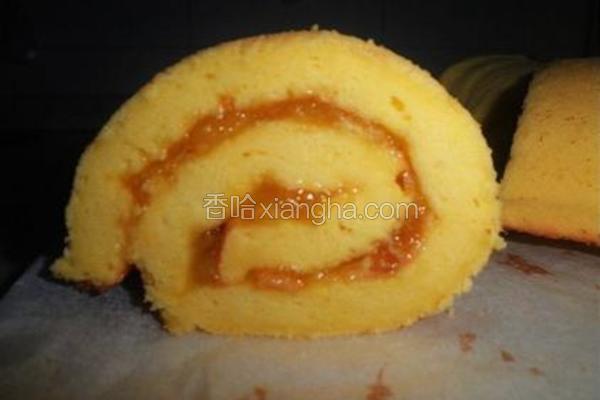 金桔酱戚风蛋糕卷
