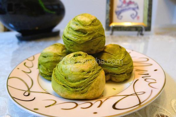 抹茶红豆酥