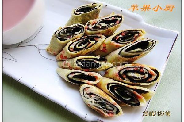 海苔葱蛋卷饼