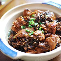 酒酿梅干菜烧鸡块的做法[图]
