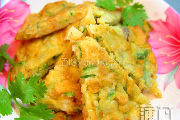 丝瓜虾米煎饼