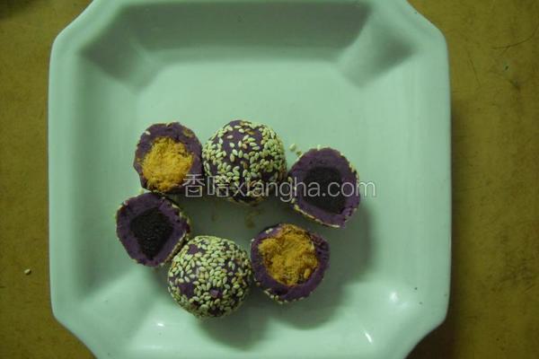 紫薯肉松团
