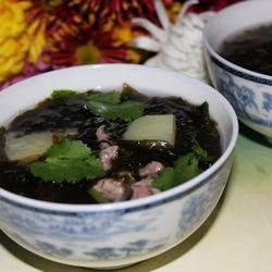 土豆紫菜肉片汤的做法[图]