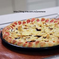 蘑菇火腿心花边比萨的做法[图]