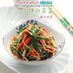 凉拌辣味水芹菜的做法[图]