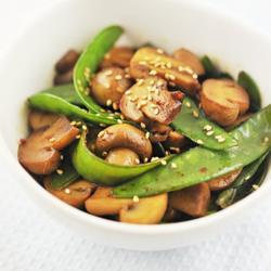 蚝汁口蘑荷兰豆的做法[图]