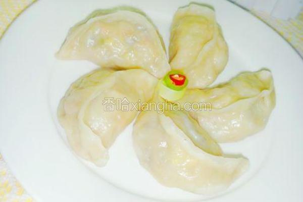 五彩北瓜蒸饺