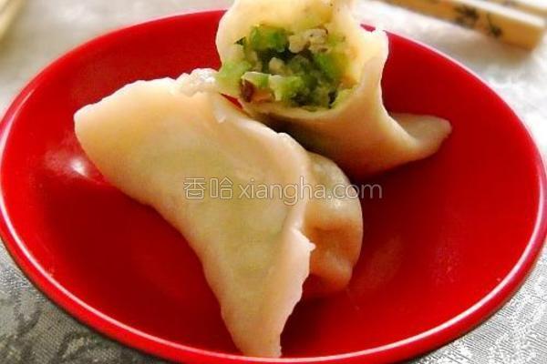 蛇豆香菇肉饺