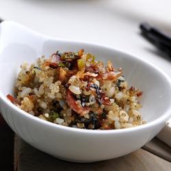 茼蒿藜麦饭的做法[图]