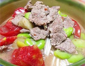 西红柿牛肉汤面