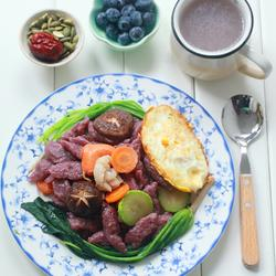 杂菜炒紫薯面疙瘩的做法[图]