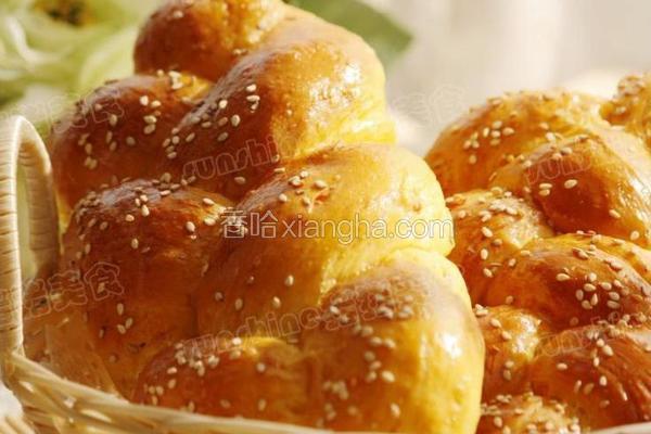 胡萝卜辫子面包