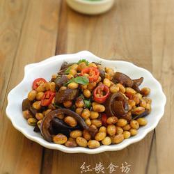 酱肉皮炒黄豆的做法[图]