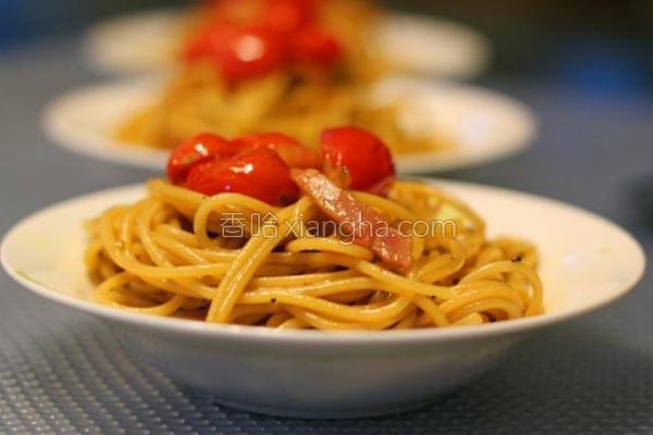 胡椒番茄培根意面