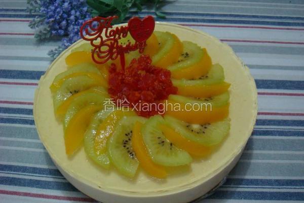 酸奶蜜桃芝士蛋糕