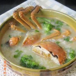 河蟹西兰花粥的做法[图]