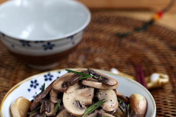香黑椒炒杂菌