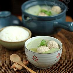 冬瓜汆丸子汤的做法[图]
