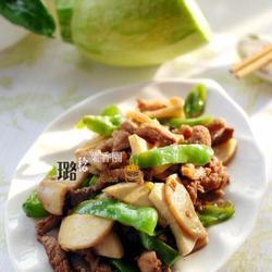 青椒杏鲍菇炒肉丝的做法[图]