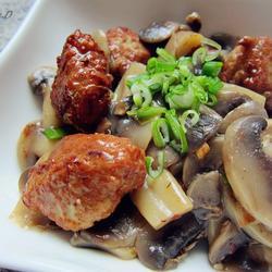 口蘑烩肉丸的做法[图]